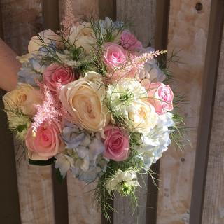 Summer Pastels hand-tied Bride's bouquet