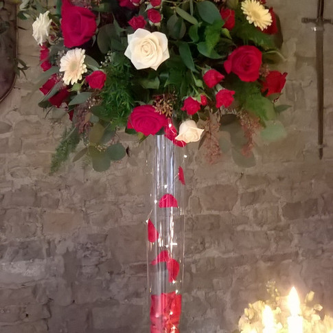 Gorgeous Wedding Venue Flowers by Flower Design of Ripon, North Yorkshire
