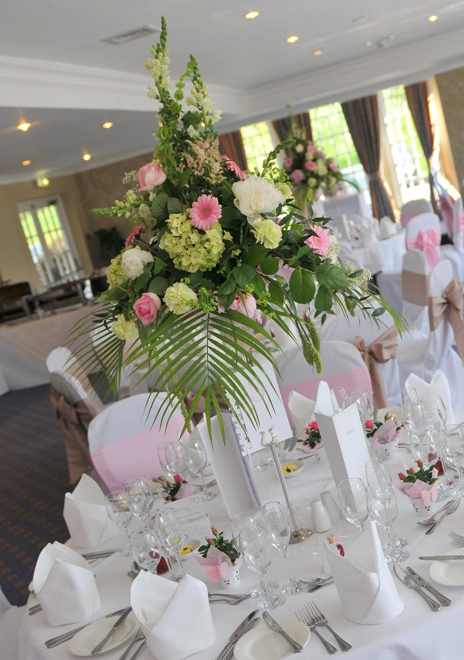 Beautiful wedding venue flowers in yorkshire flower design ripon classic martini glass wedding arrangement reviewsmspy