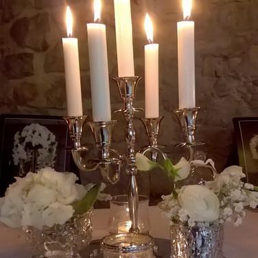 Classy Mini Candelabra Wedding Table Centrepiece.