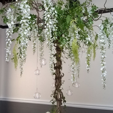 Gorgeous Blossom Tree Wedding Table Centrepiece
