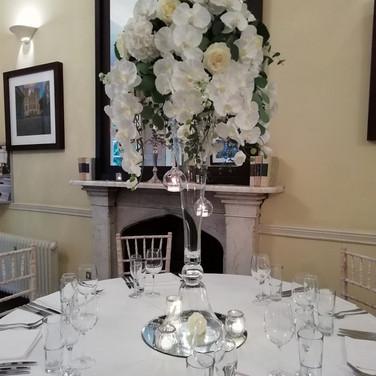 Gorgeous White wedding venue flowers