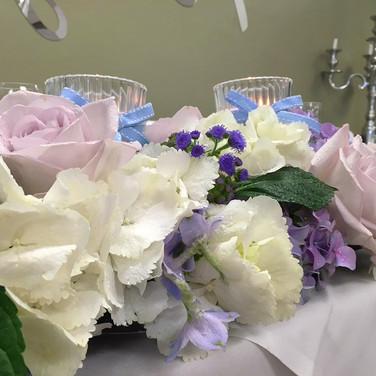 Romantic Top Table Wedding Arrangement
