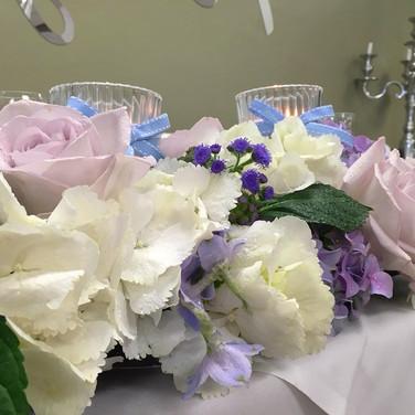 Romantic Top Table Wedding Arrangement