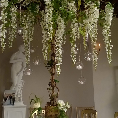 Hanging Wisteria Tree by Flower Design of Ripon, North Yorkshire.