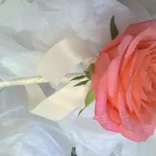 Single Rose Bridesmaid Wand.