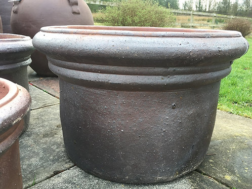Large Rustic Cylinder Garden Pot