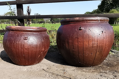 Large Rustic Drip Pot. Large Frost Proof Rustic Garden Pot.
