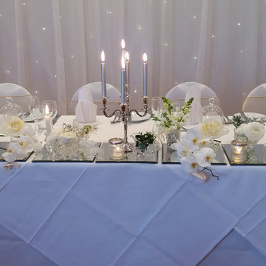 Classy White top table Design