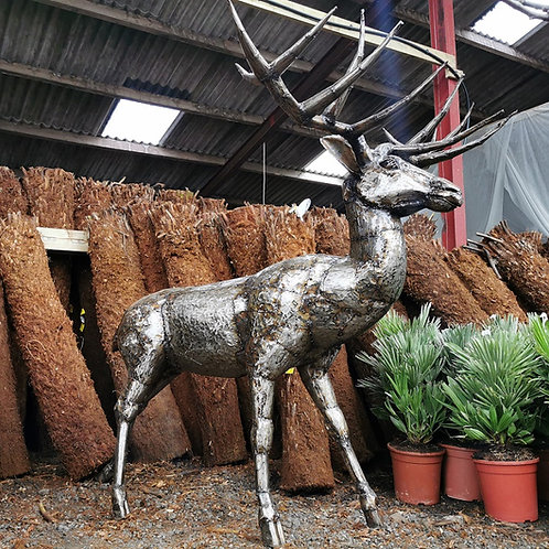 Bespoke Metal Red Deer Sculpture