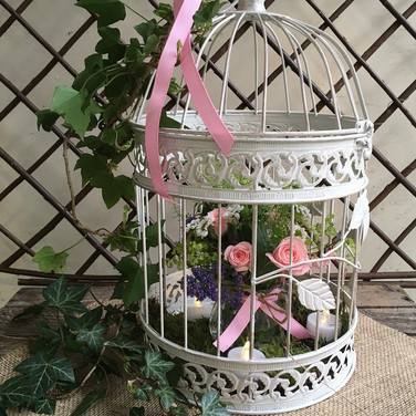 Pretty Birdcage Wedding Table Centrepiece