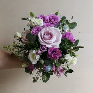 Wedding Bouquet in Lilac Shades