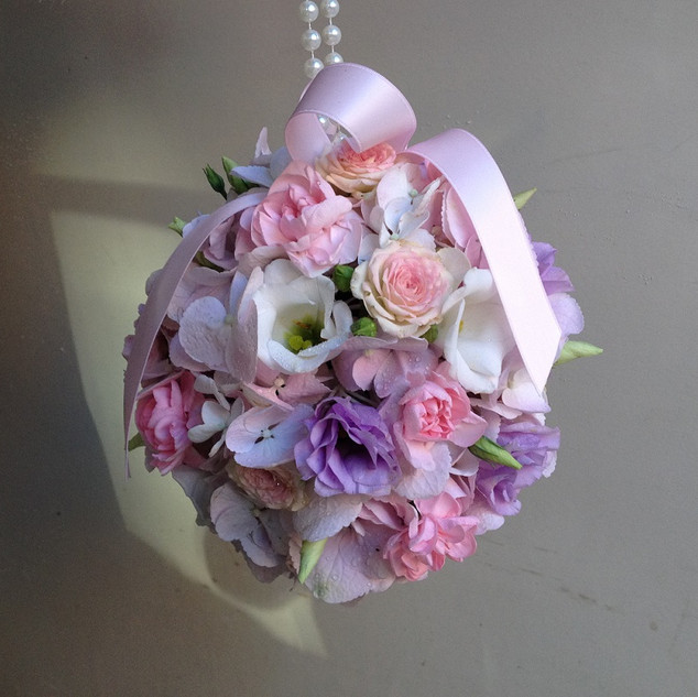 Gorgeous  Bridesmaid Pomander Ball.