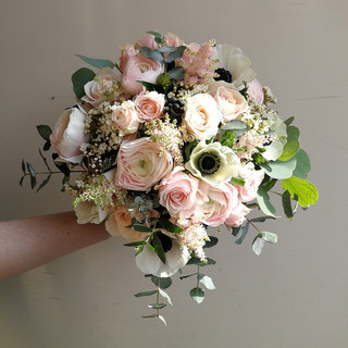 Beautiful Pastel Shades Wedding Bouquet