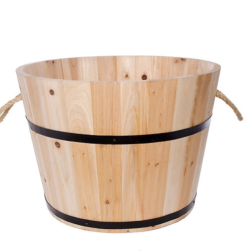 WOODEN BARREL CHRISTMAS TREE STAND WITH INSERT