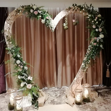 Stunning Wedding Heart Arch