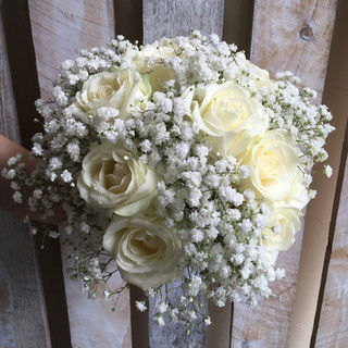 Pretty Gypsophilia and Rose Bride's Bouquet