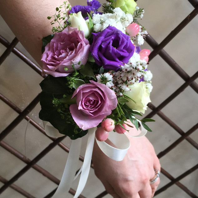 Country  Style Bridesmaid's Wrist Corsage