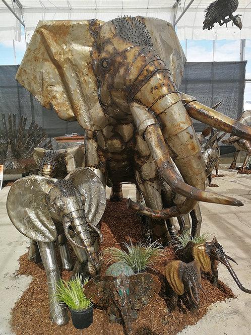 Bespoke African Elephant Metal Sculptures