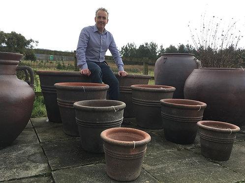 Large Stone Garden Pots.