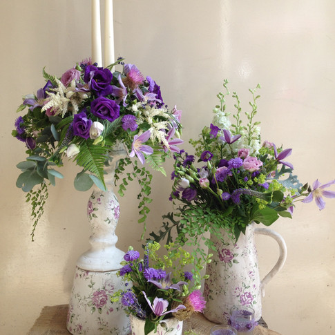 Pretty Country Style Vases and Jugs