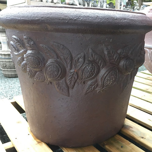 Large Garden Pot with Citrus Design