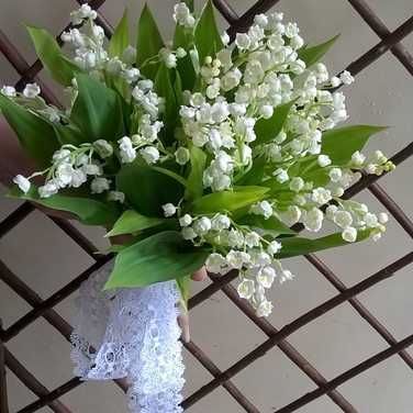 Delicate Lily of the Valley Bride's Bouquet