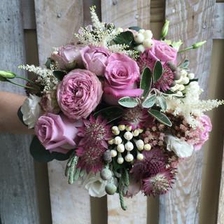 Vintage Coloured Bride's Wedding Bouquet