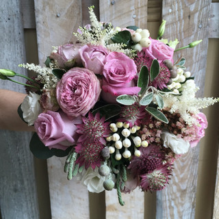Vintage Coloured Bride's Wedding Bouquet