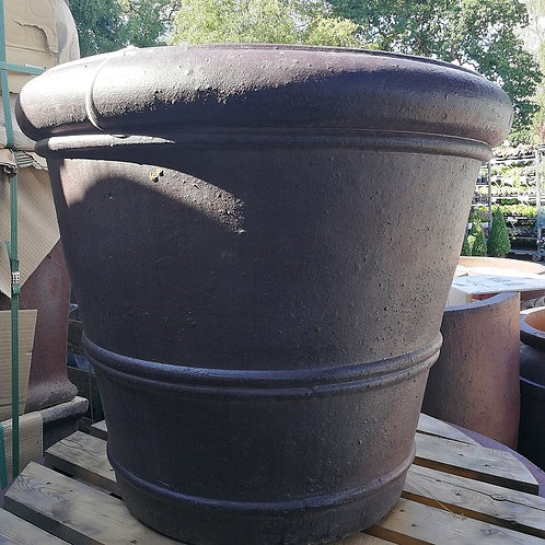 Large Rustic Tealby garden pot.