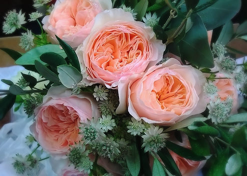 Stunning wedding flowers by Flower Design, Ripon. North Yorkshire