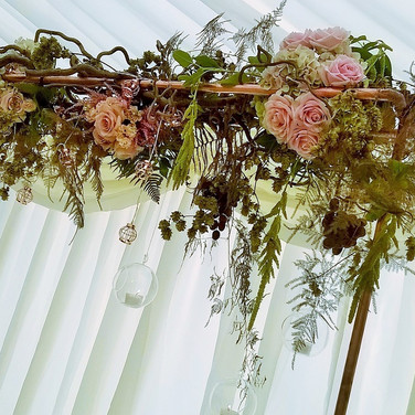 Copper Wedding Arch.