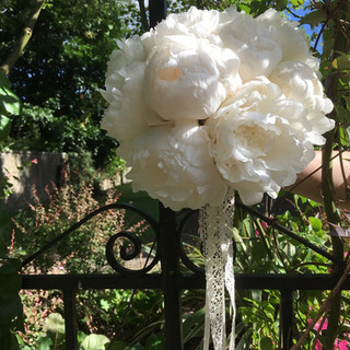 Summer Wedding Peony Bouquet.