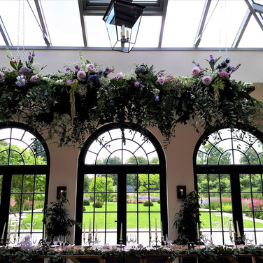 Gorgeous Wedding Venue Flowers by Flower