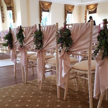 Gorgeous Fresh Flower Wedding Chair ends