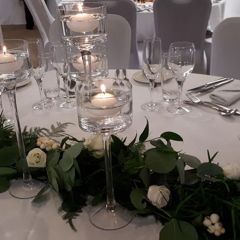 Natural Foliage Wedding Table Garland