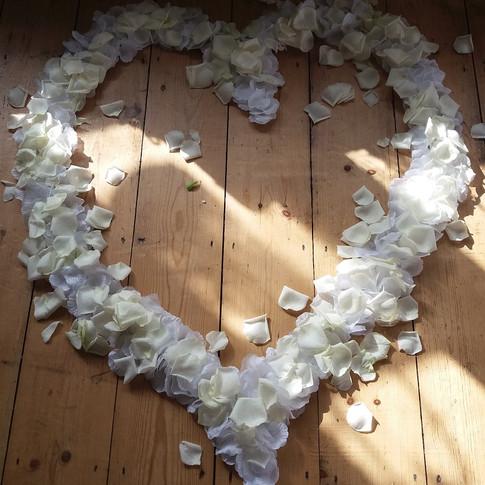 Large Rose Petal Heart.
