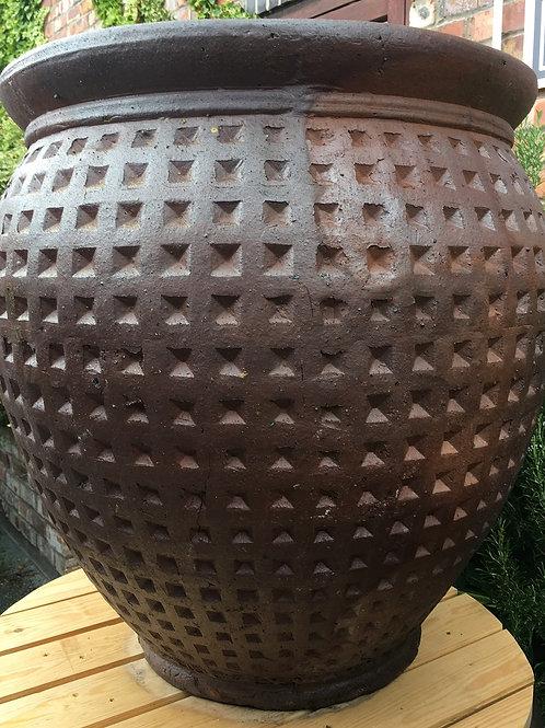 Large Dimple Vase Rustic Garden Pot