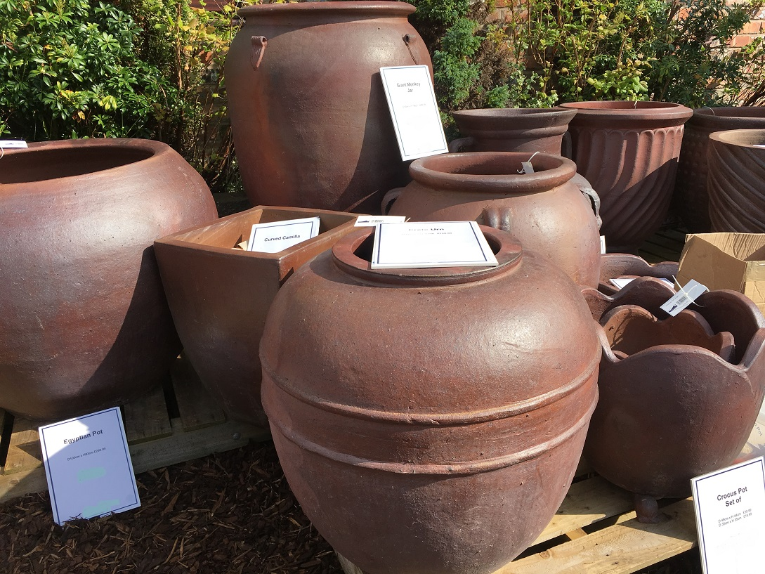 Large Rustic Garden Pots