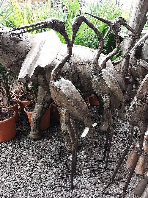 Bespoke Metal Heron Sculptures. Bespoke Metal Bird Sculptures.