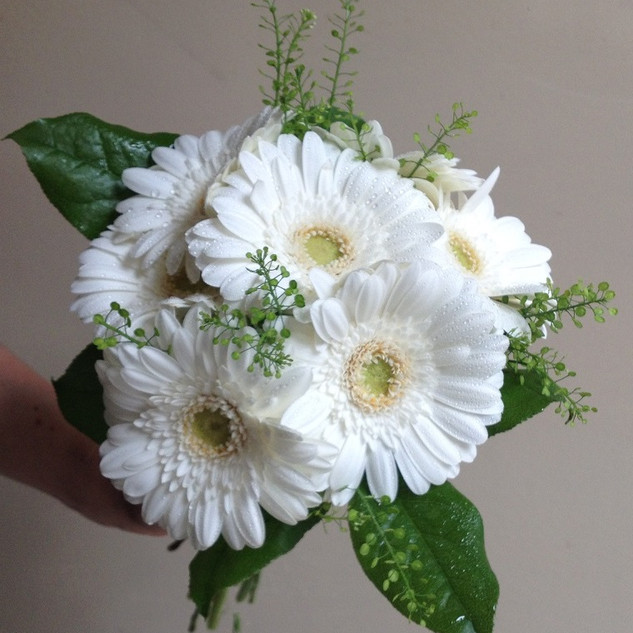 Pretty Gerbera Bridesmaid Bouquet.