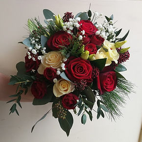 Winter Wedding Bride's Bouquet by Flower