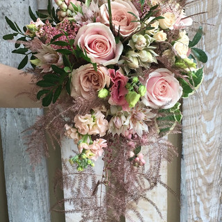 Pretty Wedding Bouquet in Blush Colours.
