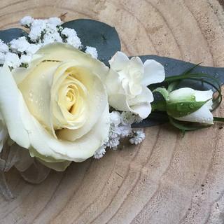 Ladies White Rose Corsage