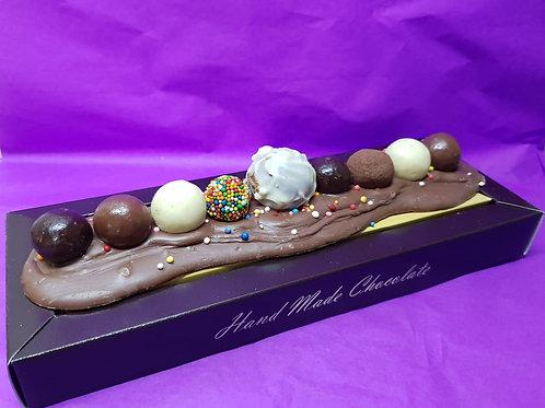חנוכיה משוקולד