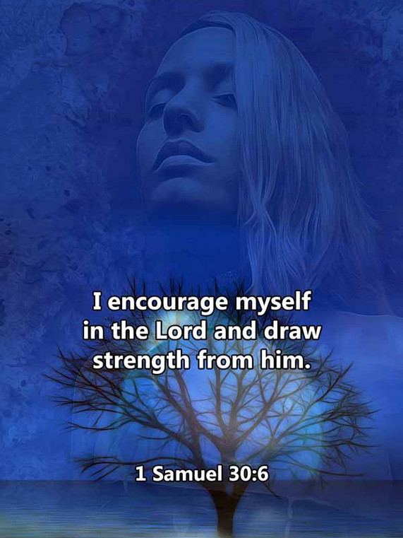 I encourage myself in the Lord 1 Samuel