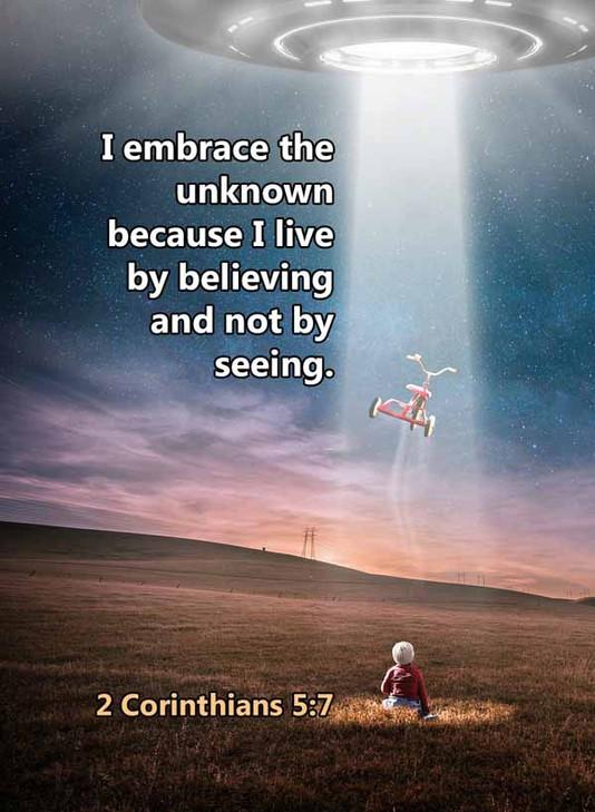 Embrace the unknown 2 Corinthians 5_7LR.