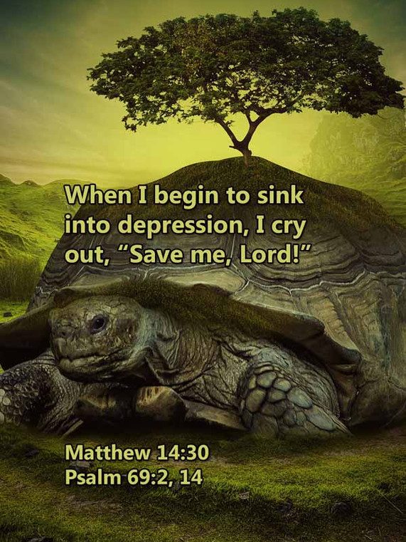 Sink into depression save me Matthew 14_