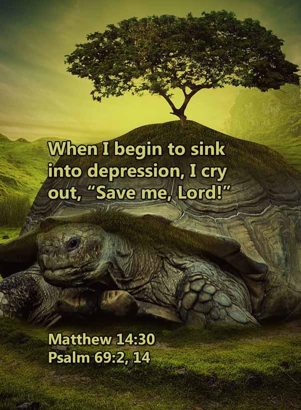 Sink into depression save me Matthew 14_