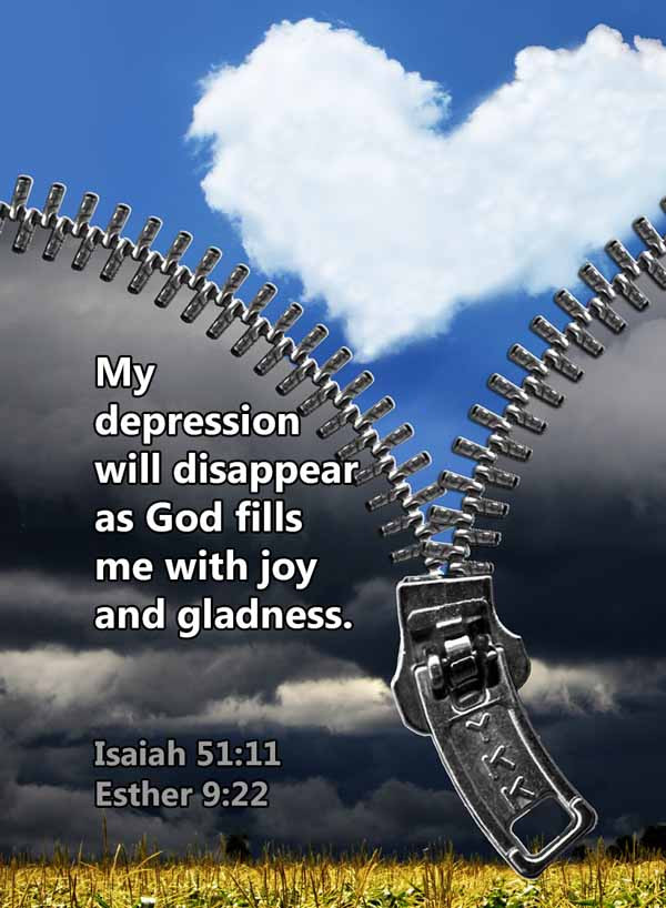My depression will disappear as God fill